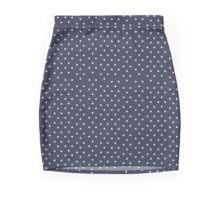 Navy Dots Mini Skirt