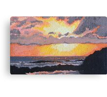 Caribbean Sunset over Great Bay Canvas Print