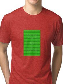 Football Soccer Pitch Tri-blend T-Shirt