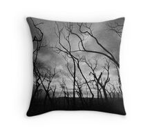 Another Black Saturday Throw Pillow