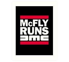 McFly Runs DMC Art Print