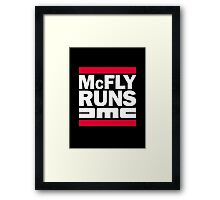 McFly Runs DMC Framed Print