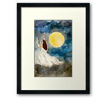 Goddess of the Cloudy Night Sky Framed Print