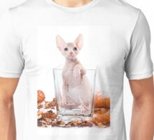 Funny sphinx kitten without hair Unisex T-Shirt