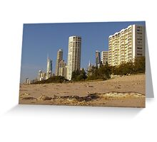 Sea snake beached at Surfers Paradise Greeting Card