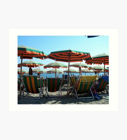 Monterosso beach Art Print