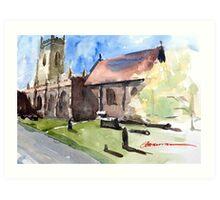 St Peter's Church in Edgmond, Shropshire Art Print