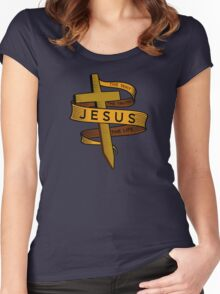 JESUS - THE WAY THE TRUTH THE LIFE Women's Fitted Scoop T-Shirt