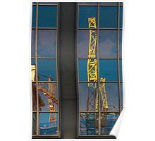 Yellow Cranes Poster