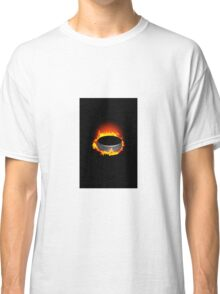 Burning Hockey Puck  Classic T-Shirt
