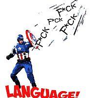 Captain America - Watch your Language by ervinderclan