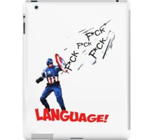 Captain America - Watch your Language iPad Case/Skin