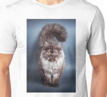 Fluffy black cat Unisex T-Shirt