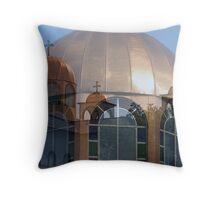Greek Church Collage Throw Pillow