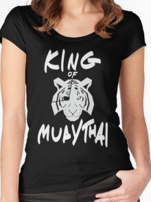 Sagat King of Muay Thai Re-Work Women's Fitted Scoop T-Shirt