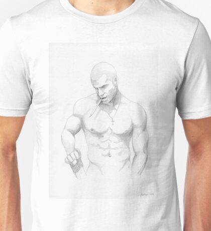 guy with saw and pencil Unisex T-Shirt