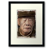 Old Man in taiwan market Framed Print