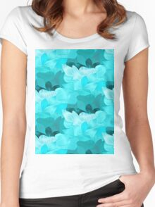 An abstract pattern inspired from the waves of the ocean Women's Fitted Scoop T-Shirt