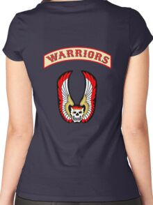 The Warriors - Back Patch  Women's Fitted Scoop T-Shirt