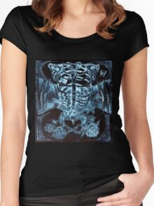 x-ray chest of butterflies Women's Fitted Scoop T-Shirt