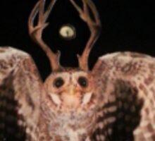 stag owl 1 Sticker