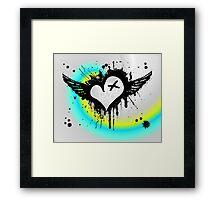 Cross My Heart. Framed Print