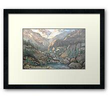 Fall River Canyon Framed Print
