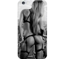 Girl grunge teen black white fashion style wave ass butt funny grey iPhone Case/Skin