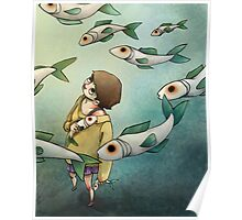 Fish Ghost Poster