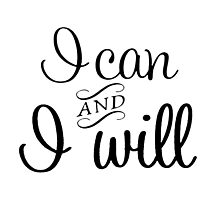 I Can and I Will by Samantha Lusher