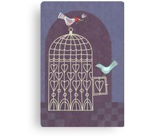 Leaving the Birdcage Canvas Print