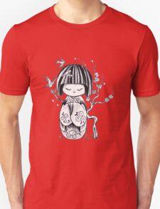 Kokeshi  Geisha doll Unisex T-Shirt