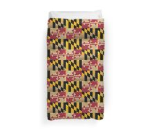 Maryland State Flag VINTAGE Duvet Cover