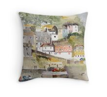 Mevagissey, Cornwall Throw Pillow