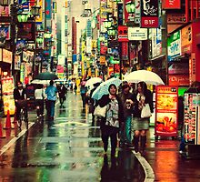Kichijoji Backroad in the Rain by superpope