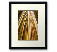 Golden Decay Framed Print