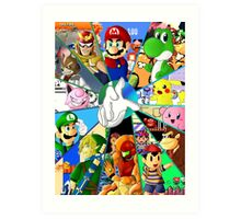 Super Smash Bros. OG Poster Art Print
