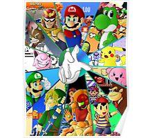 Super Smash Bros. OG Poster Poster