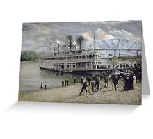 Mississippi Steamboat Landing Greeting Card