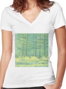 The Clearing Women's Fitted V-Neck T-Shirt