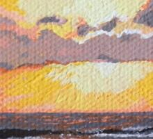Caribbean Sunset over Great Bay Sticker