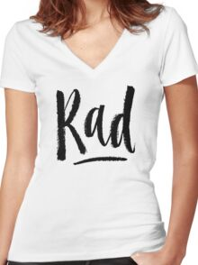 Rad Women's Fitted V-Neck T-Shirt