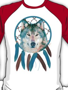 Spirit Wolf Dream Catcher T-Shirt