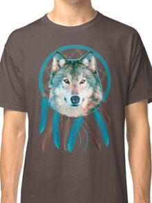 Spirit Wolf Dream Catcher Classic T-Shirt