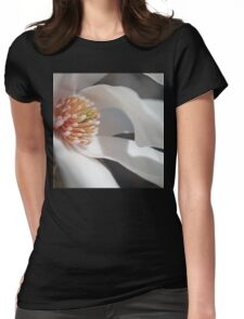 White Magnolia Womens Fitted T-Shirt
