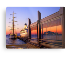 Maritime Sunset Reflections Metal Print