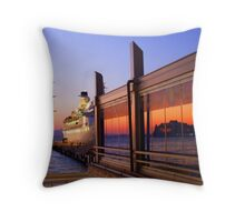 Maritime Sunset Reflections Throw Pillow