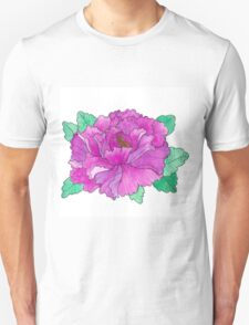 Wild Peony Watercolor T-Shirt
