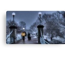 Winter in Boston Canvas Print