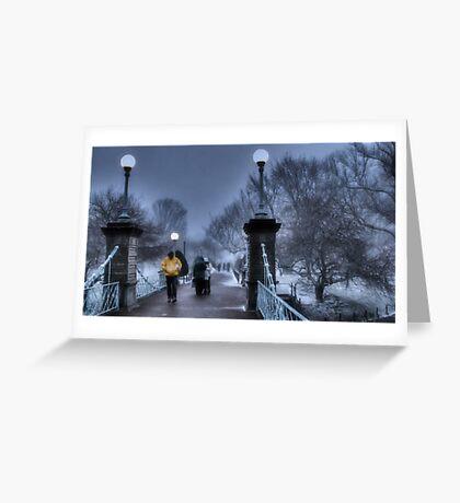 Winter in Boston Greeting Card